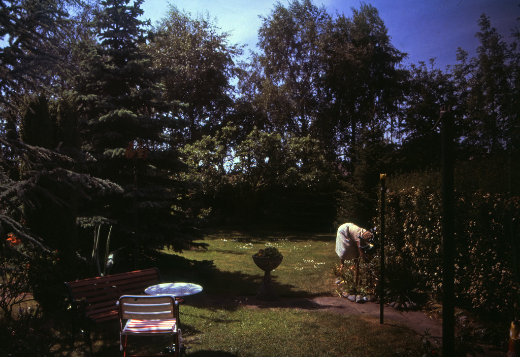 Garten in Kronshagen in den 1980er